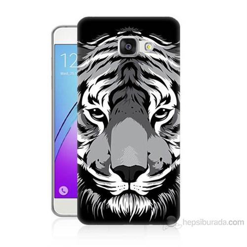 Teknomeg Samsung Galaxy A5 2016 Kapak Kılıf Kaplan Baskılı Silikon