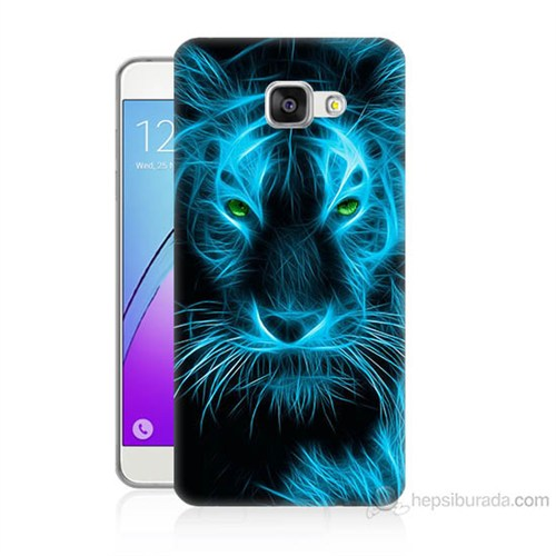 Teknomeg Samsung Galaxy A5 2016 Kapak Kılıf Mavi Kaplan Baskılı Silikon