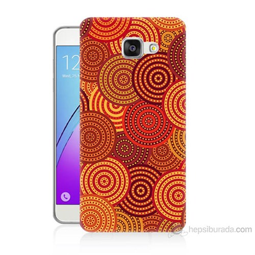 Teknomeg Samsung Galaxy A5 2016 Kapak Kılıf Daireler Baskılı Silikon