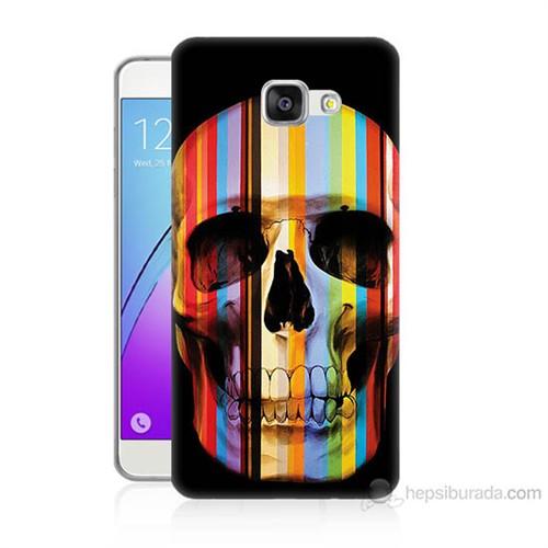 Teknomeg Samsung Galaxy A5 2016 Kapak Kılıf Renkli Kurukafa Baskılı Silikon