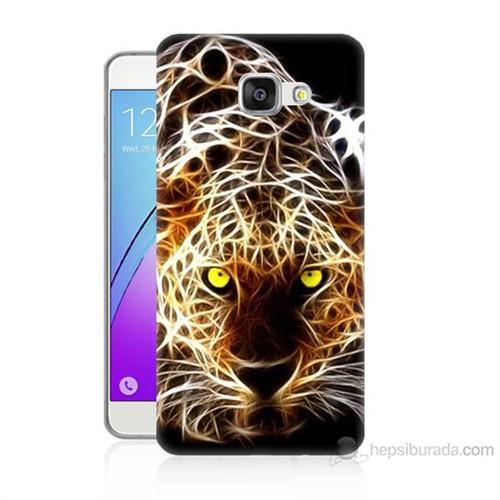Teknomeg Samsung Galaxy A5 2016 Kapak Kılıf Yanan Aslan Baskılı Silikon