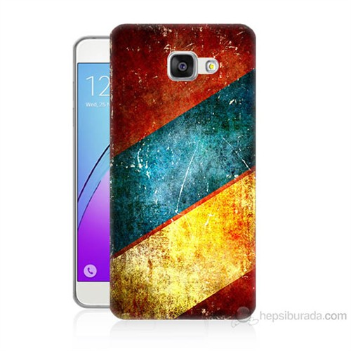 Teknomeg Samsung Galaxy A5 2016 Kapak Kılıf Renkli Metal Baskılı Silikon