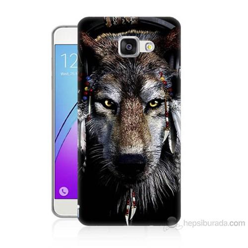 Teknomeg Samsung Galaxy A5 2016 Kapak Kılıf Kızıldereli Kurt Baskılı Silikon