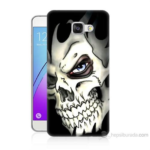 Teknomeg Samsung Galaxy A5 2016 Kapak Kılıf Kurukafa Baskılı Silikon