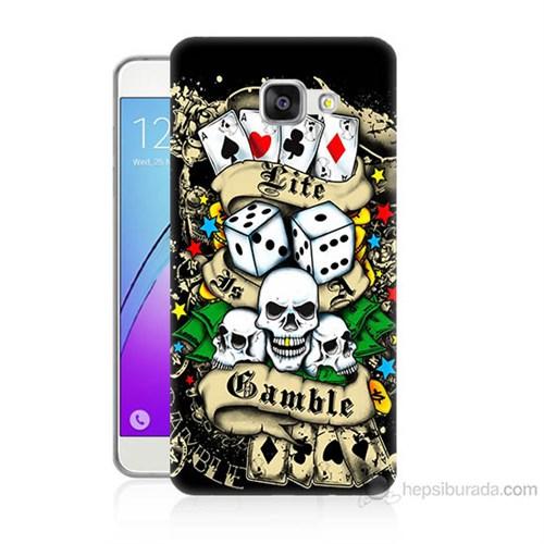 Teknomeg Samsung Galaxy A5 2016 Kapak Kılıf Kumar Baskılı Silikon