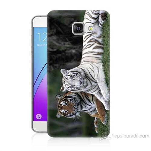 Teknomeg Samsung Galaxy A5 2016 Kapak Kılıf Aslanlar Baskılı Silikon