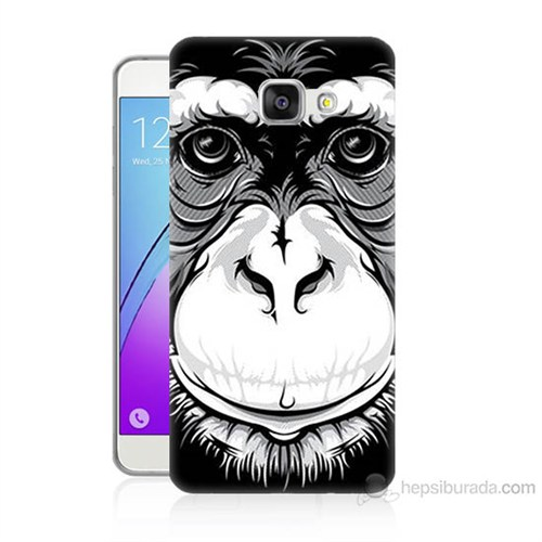 Teknomeg Samsung Galaxy A7 2016 Kılıf Kapak Maymun Baskılı Silikon