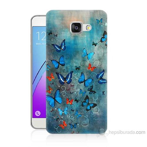 Teknomeg Samsung Galaxy A7 2016 Kapak Kılıf Kelebekler Baskılı Silikon
