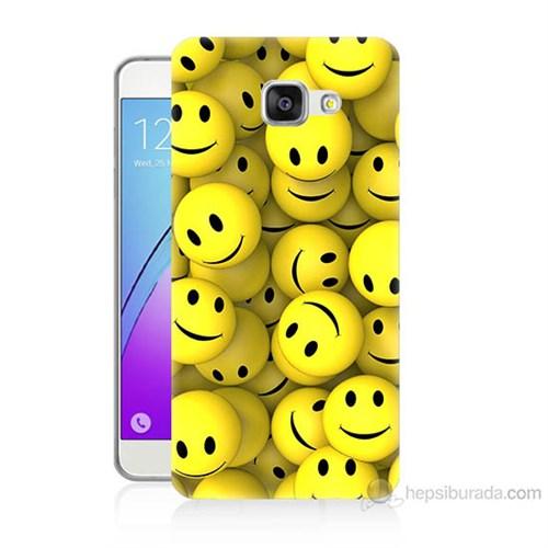 Teknomeg Samsung Galaxy A7 2016 Kapak Kılıf Smile Baskılı Silikon