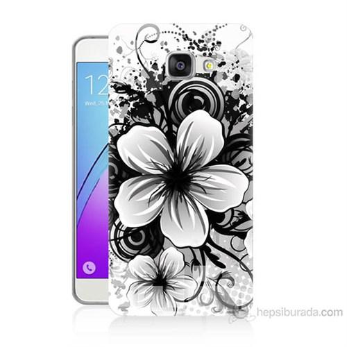 Teknomeg Samsung Galaxy A7 2016 Kapak Kılıf Manolya Baskılı Silikon