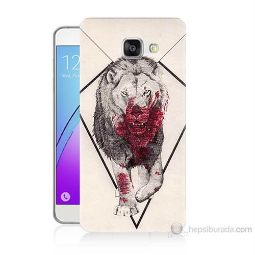 Teknomeg Samsung Galaxy A7 2016 Kapak Kılıf Kanlı Aslan Baskılı Silikon