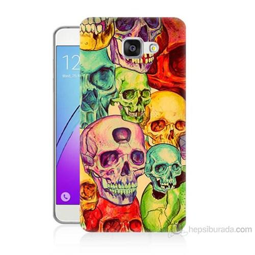 Teknomeg Samsung Galaxy A7 2016 Kapak Kılıf Kafatası Krallığı Baskılı Silikon