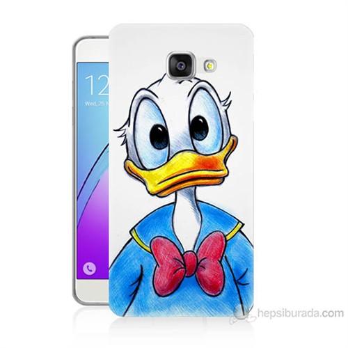 Teknomeg Samsung Galaxy A7 2016 Kapak Kılıf Donald Duck Baskılı Silikon