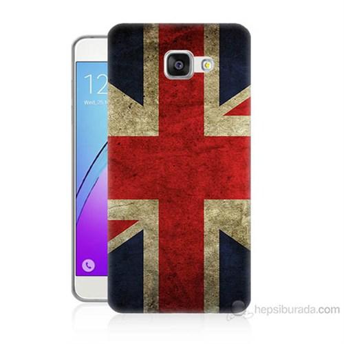 Teknomeg Samsung Galaxy A7 2016 Kapak Kılıf İngiltere Bayrağı Baskılı Silikon