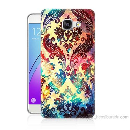 Teknomeg Samsung Galaxy A7 2016 Kapak Kılıf Çiçek Motifi Baskılı Silikon