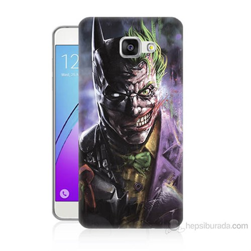 Teknomeg Samsung Galaxy A7 2016 Kapak Kılıf Joker Vs Batman Baskılı Silikon