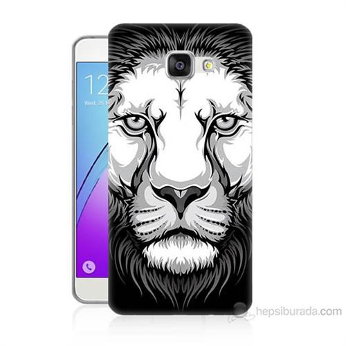 Teknomeg Samsung Galaxy A7 2016 Kapak Kılıf Aslan Baskılı Silikon