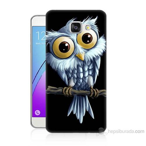 Teknomeg Samsung Galaxy A7 2016 Kapak Kılıf Beyaz Baykuş Baskılı Silikon