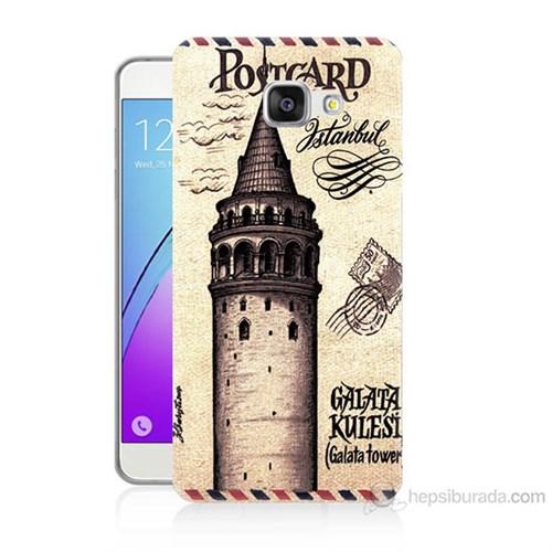 Teknomeg Samsung Galaxy A7 2016 Kapak Kılıf Galata Tower Baskılı Silikon