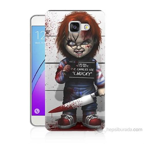 Teknomeg Samsung Galaxy A7 2016 Kapak Kılıf Chaki Baskılı Silikon
