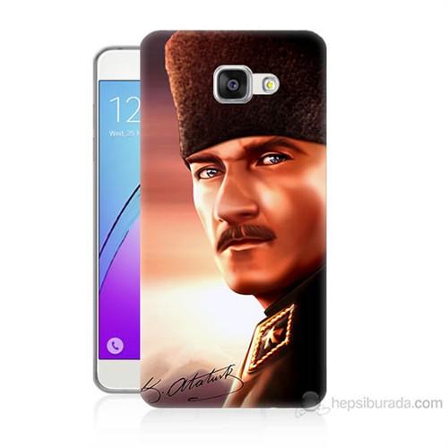 Teknomeg Samsung Galaxy A7 2016 Kapak Kılıf Mustafa Kemal Baskılı Silikon