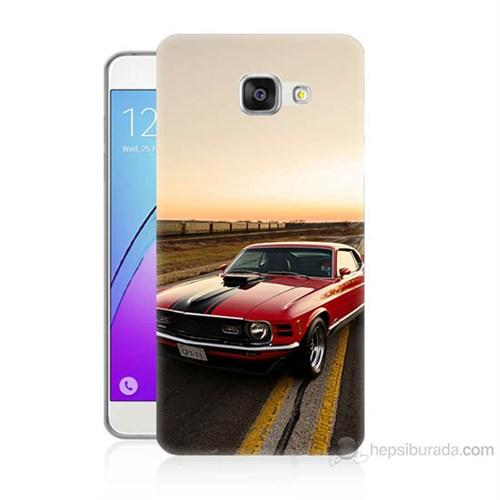 Teknomeg Samsung Galaxy A7 2016 Kapak Kılıf Araba Baskılı Silikon