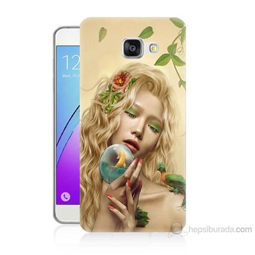 Teknomeg Samsung Galaxy A7 2016 Kapak Kılıf Sade Kadın Baskılı Silikon