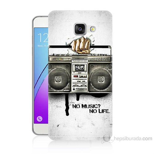 Teknomeg Samsung Galaxy A7 2016 Kapak Kılıf Müzik Hayattır Baskılı Silikon