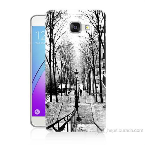 Teknomeg Samsung Galaxy A7 2016 Kapak Kılıf Siyah Beyaz Baskılı Silikon