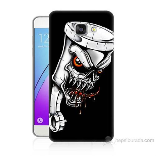 Teknomeg Samsung Galaxy A7 2016 Kapak Kılıf Piston Baskılı Silikon