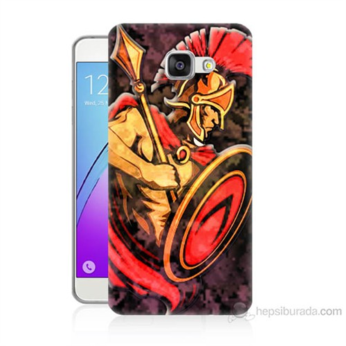 Teknomeg Samsung Galaxy A7 2016 Kapak Kılıf Gladyatör Baskılı Silikon