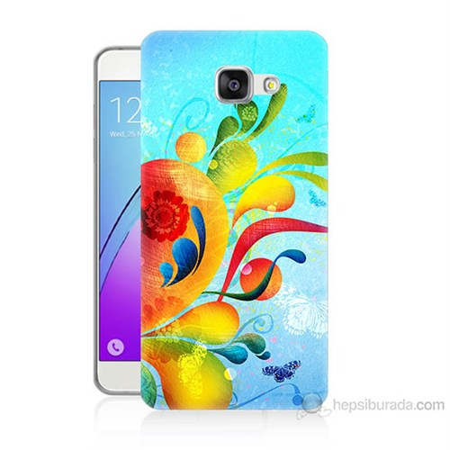 Teknomeg Samsung Galaxy A7 2016 Kapak Kılıf Renkli Desen Baskılı Silikon