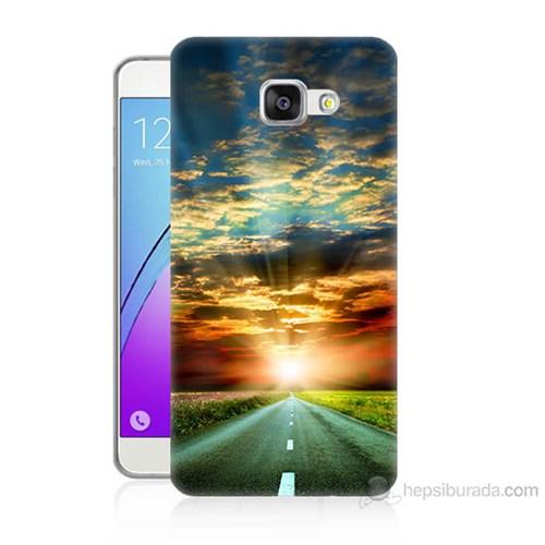 Teknomeg Samsung Galaxy A7 2016 Kapak Kılıf Yol Baskılı Silikon