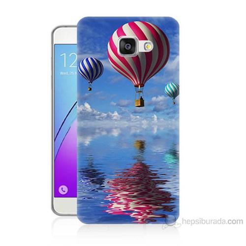 Teknomeg Samsung Galaxy A7 2016 Kapak Kılıf Renkli Balonlar Baskılı Silikon