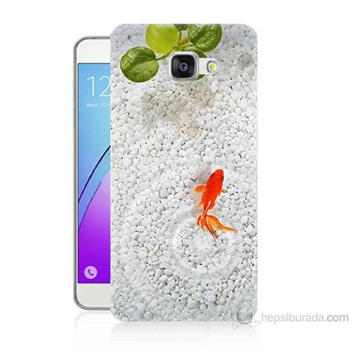 Teknomeg Samsung Galaxy A7 2016 Kapak Kılıf Kırmızı Balık Baskılı Silikon