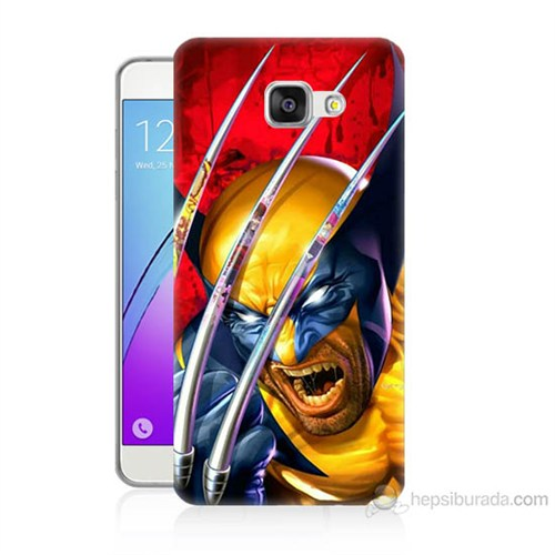Teknomeg Samsung Galaxy A7 2016 Kapak Kılıf Wolverin Baskılı Silikon