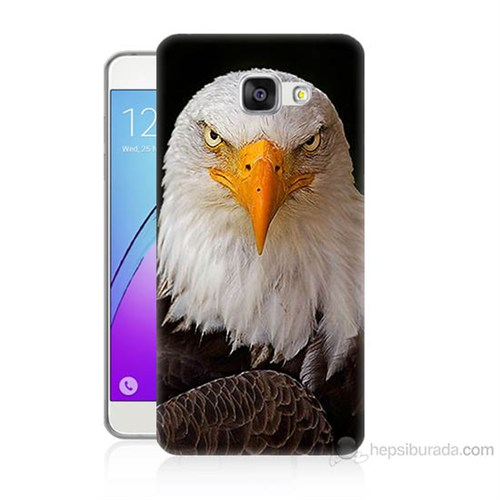 Teknomeg Samsung Galaxy A7 2016 Kapak Kılıf Kartal Baskılı Silikon
