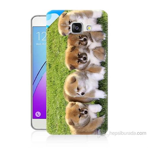 Teknomeg Samsung Galaxy A7 2016 Kapak Kılıf Sevimli Köpek Baskılı Silikon