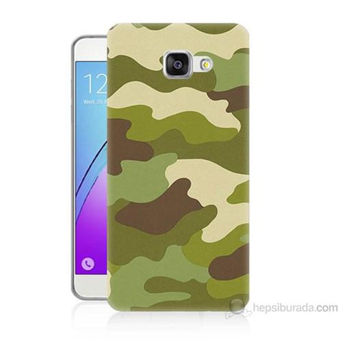 Teknomeg Samsung Galaxy A7 2016 Kapak Kılıf Kamufulaj Baskılı Silikon