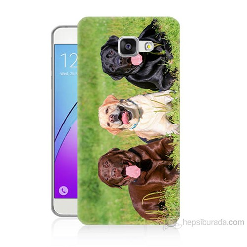 Teknomeg Samsung Galaxy A7 2016 Kapak Kılıf Köpekler Baskılı Silikon