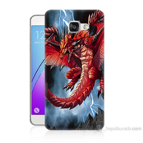 Teknomeg Samsung Galaxy A7 2016 Kapak Kılıf Dragon Baskılı Silikon