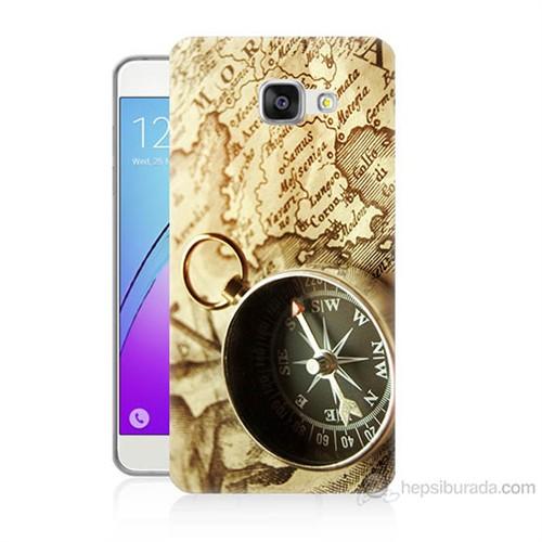 Teknomeg Samsung Galaxy A7 2016 Kapak Kılıf Pusula Baskılı Silikon
