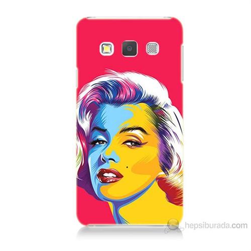 Teknomeg Samsung Galaxy A7 Kapak Kılıf Pop-Art Resim Baskılı Silikon