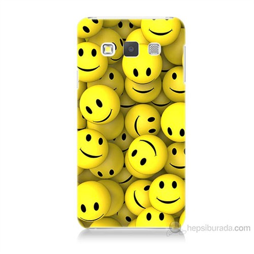 Teknomeg Samsung Galaxy A7 Kapak Kılıf Smile Baskılı Silikon
