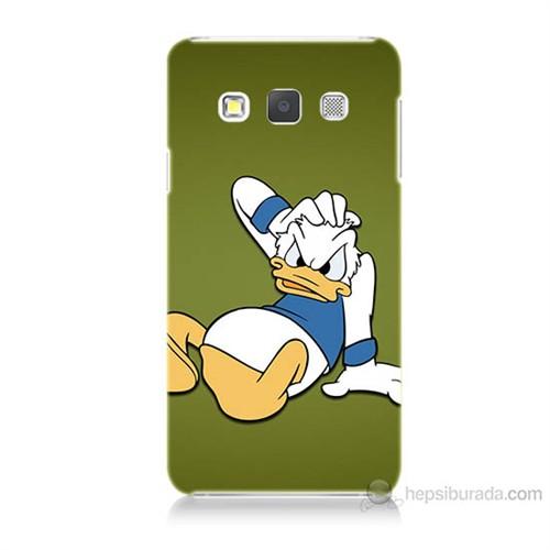 Teknomeg Samsung Galaxy A7 Kapak Kılıf Donald Dock Baskılı Silikon
