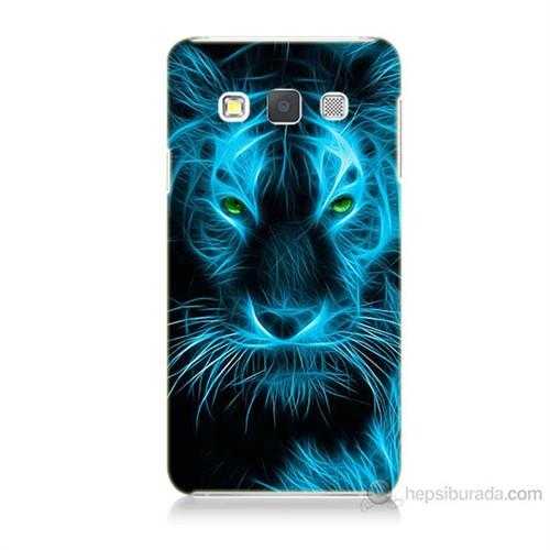 Teknomeg Samsung Galaxy A7 Kapak Kılıf Mavi Kaplan Baskılı Silikon