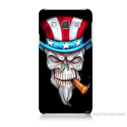 Teknomeg Samsung Galaxy A7 Kapak Kılıf Sam Amca Baskılı Silikon