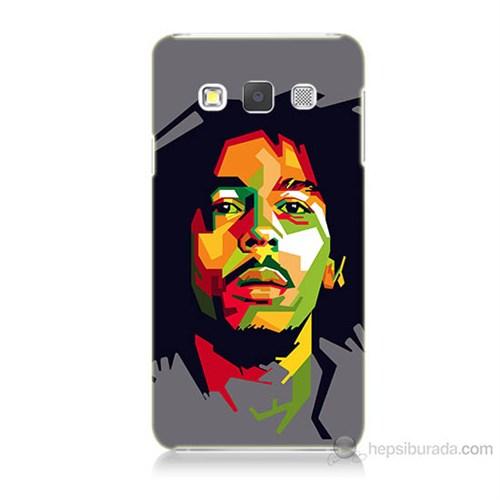 Teknomeg Samsung Galaxy A7 Kapak Kılıf Bob Marley Baskılı Silikon