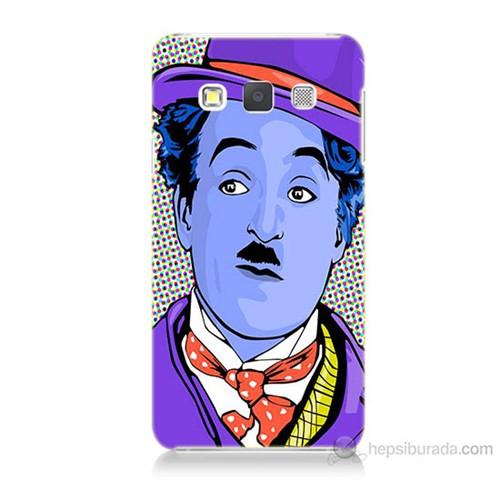 Teknomeg Samsung Galaxy A7 Kapak Kılıf Charlie Chaplin Baskılı Silikon