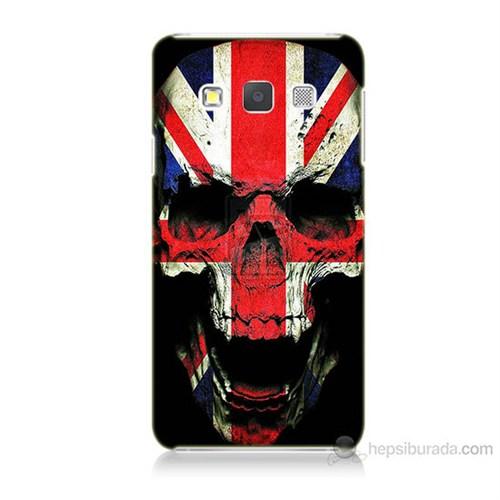 Teknomeg Samsung Galaxy A7 Kapak Kılıf İngiltere Baskılı Silikon